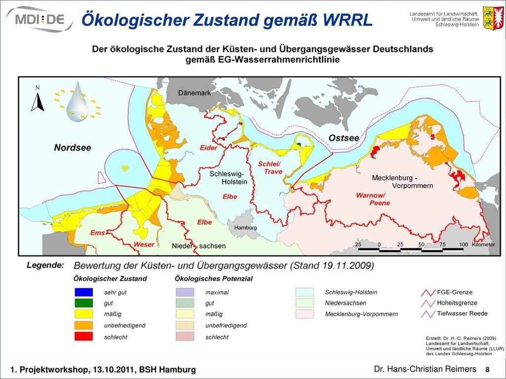 Ökologischer Zustand gemäß WRRL