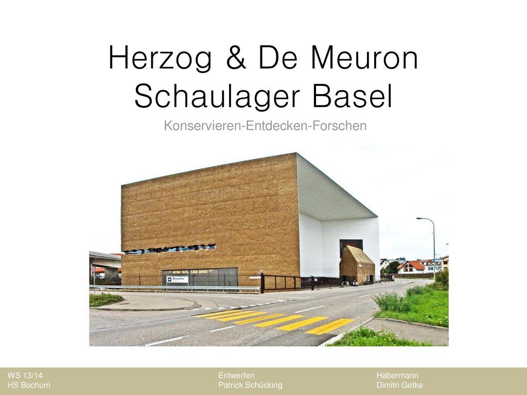 Herzog & De Meuron Schaulager Basel