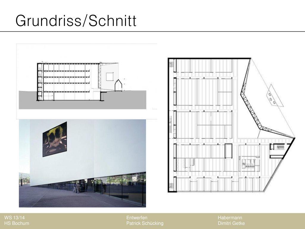 Grundriss/Schnitt WS 13/14 Entwerfen Habermann