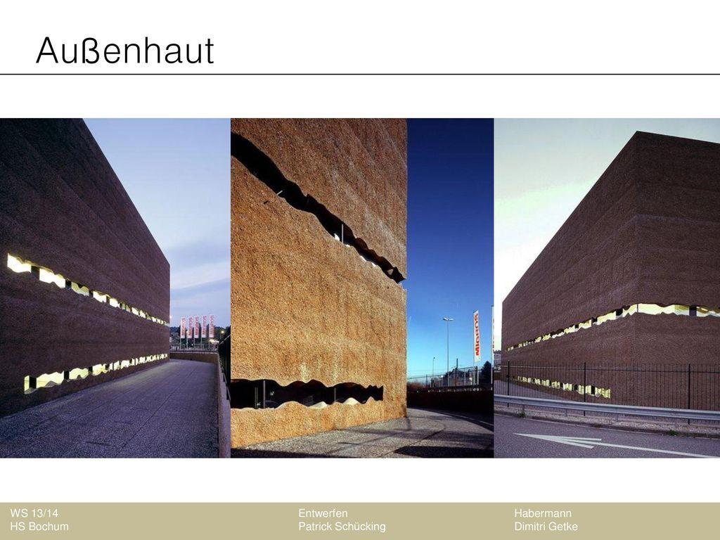 Außenhaut WS 13/14 Entwerfen Habermann