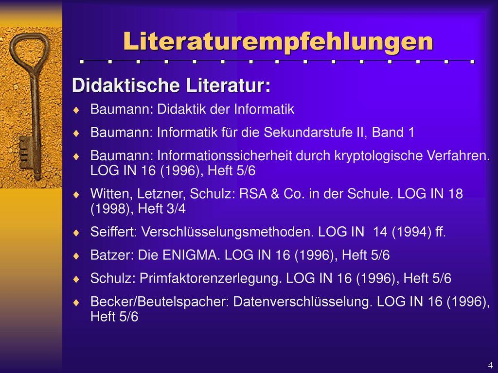 Literaturempfehlungen