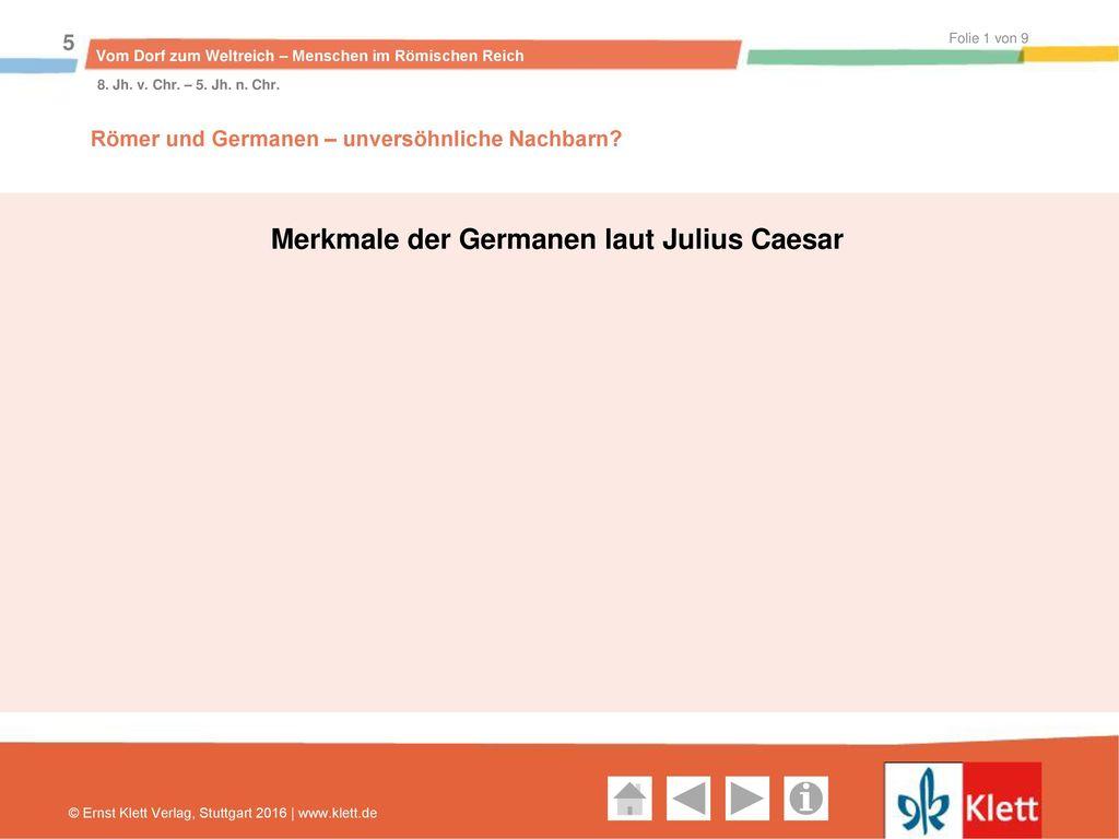 Merkmale der Germanen laut Julius Caesar