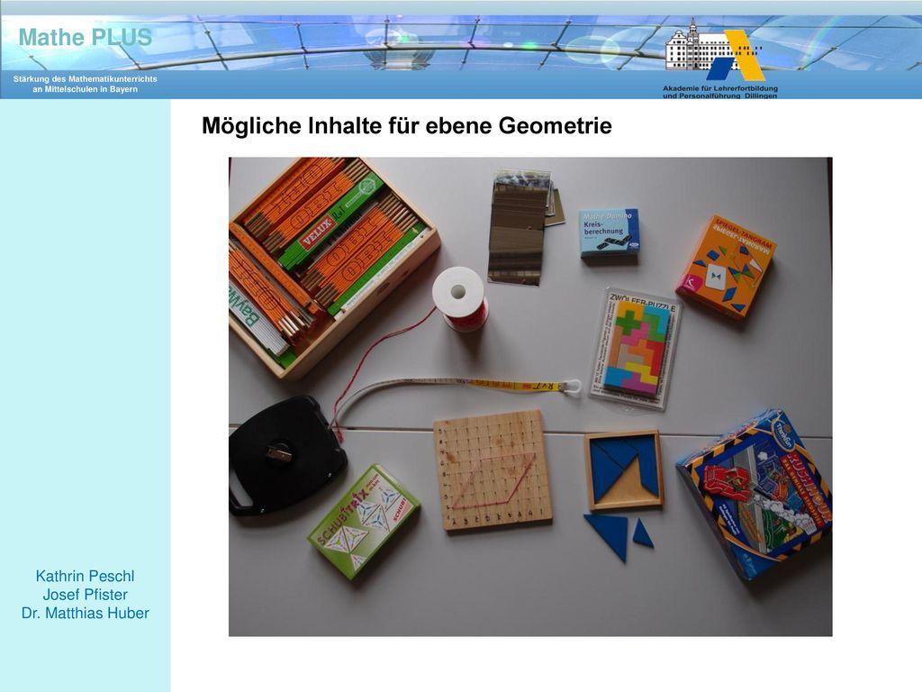 Mögliche Inhalte für ebene Geometrie