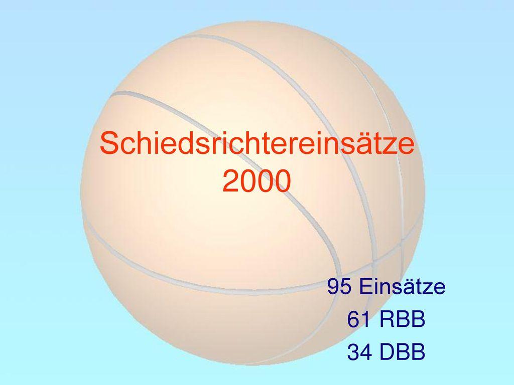 Schiedsrichtereinsätze 2000