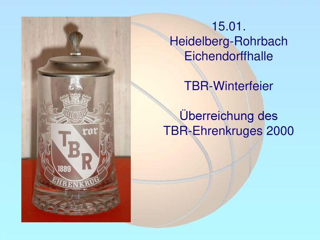 15.01. Heidelberg-Rohrbach Eichendorffhalle TBR-Winterfeier Überreichung des TBR-Ehrenkruges 2000