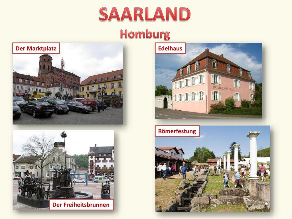 SAARLAND Homburg Der Marktplatz Edelhaus Römerfestung