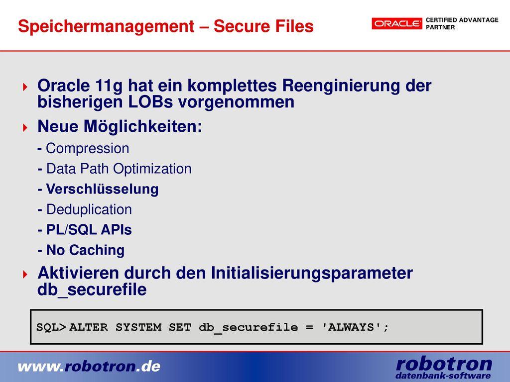 Speichermanagement – Secure Files