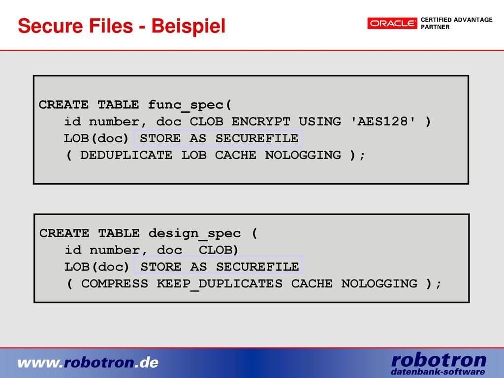 Secure Files - Beispiel