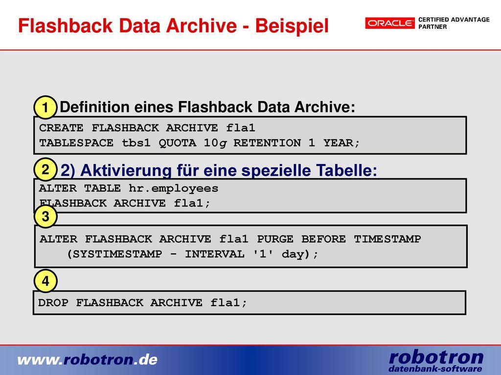 Flashback Data Archive - Beispiel