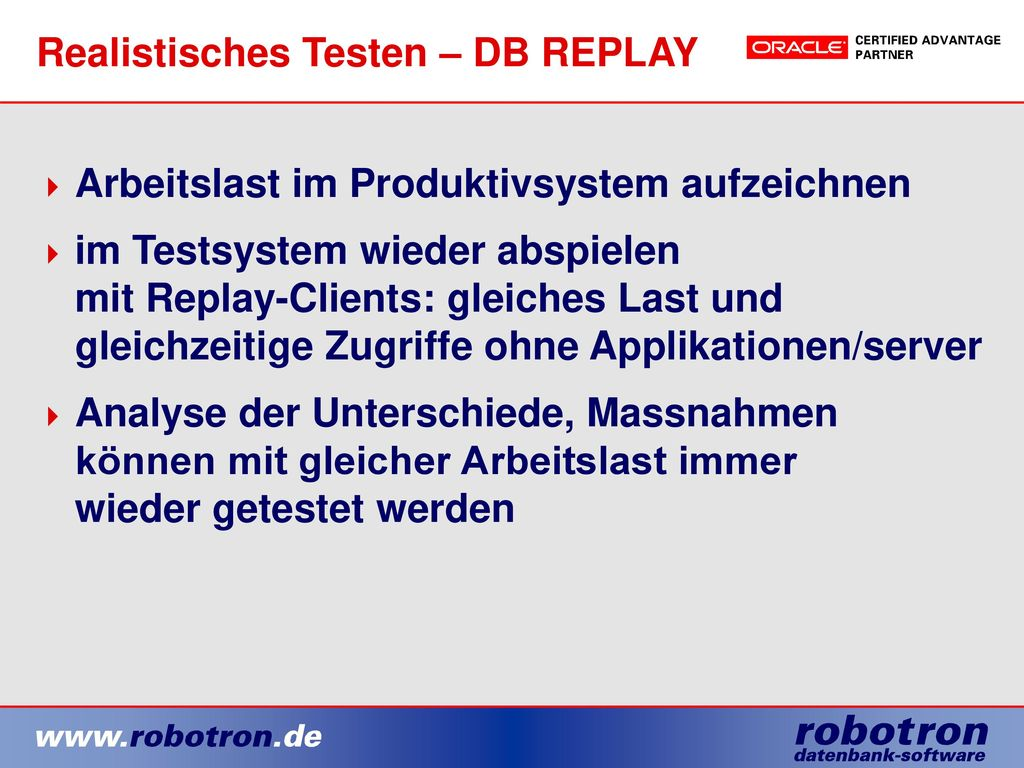 Realistisches Testen – DB REPLAY