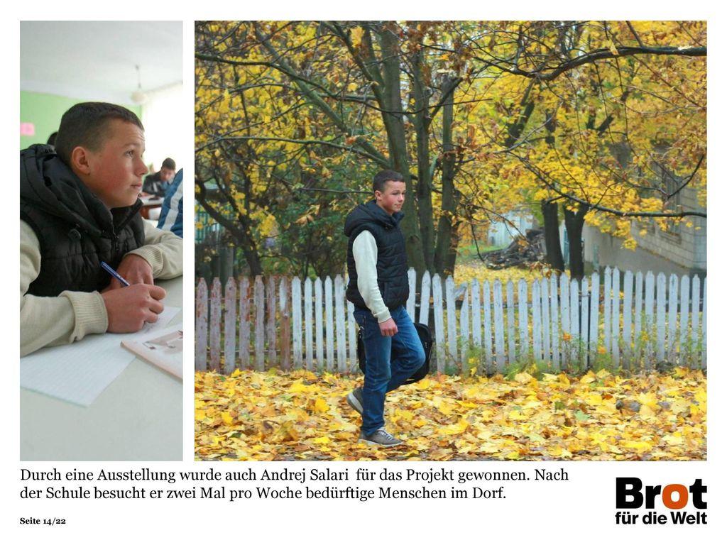 Durch eine Ausstellung wurde auch Andrej Salari für das Projekt gewonnen.