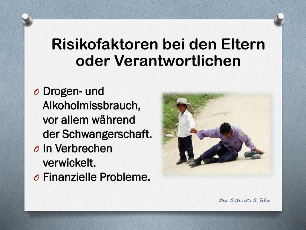 Risikofaktoren bei den Eltern oder Verantwortlichen