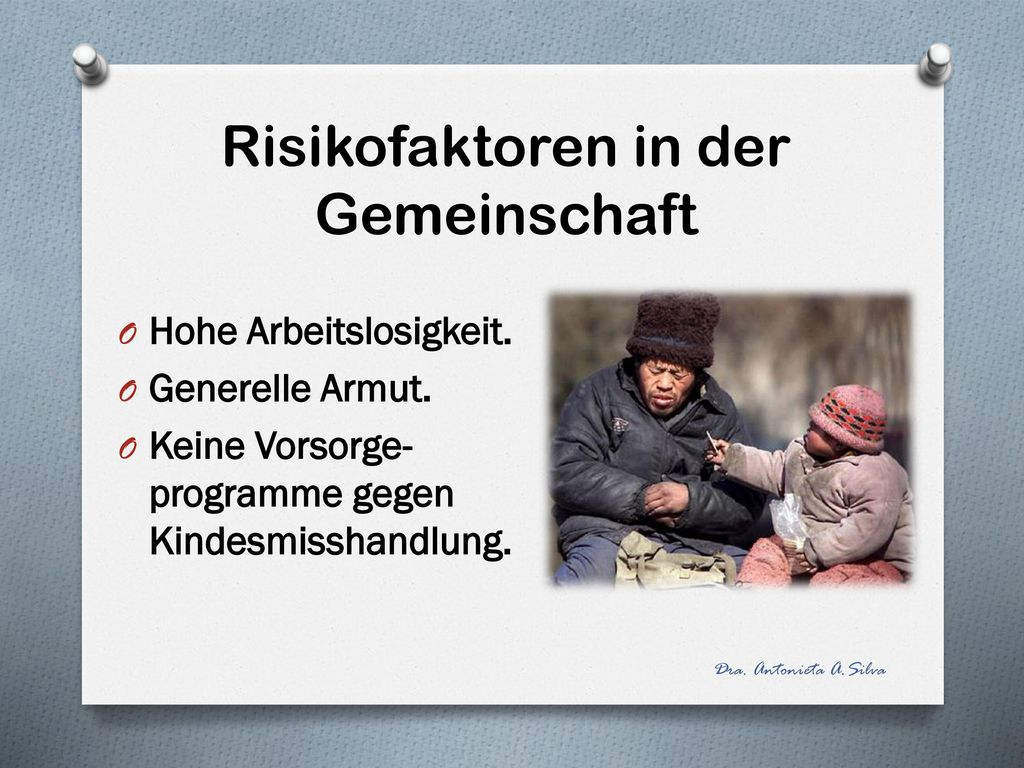 Risikofaktoren in der Gemeinschaft