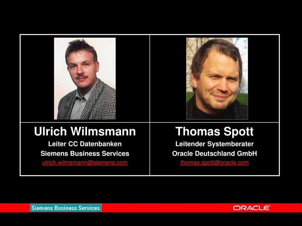 Ulrich Wilmsmann Thomas Spott