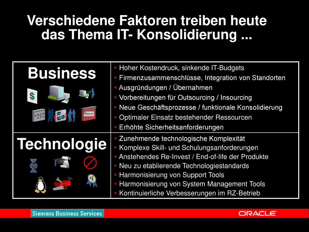 Verschiedene Faktoren treiben heute das Thema IT- Konsolidierung ...