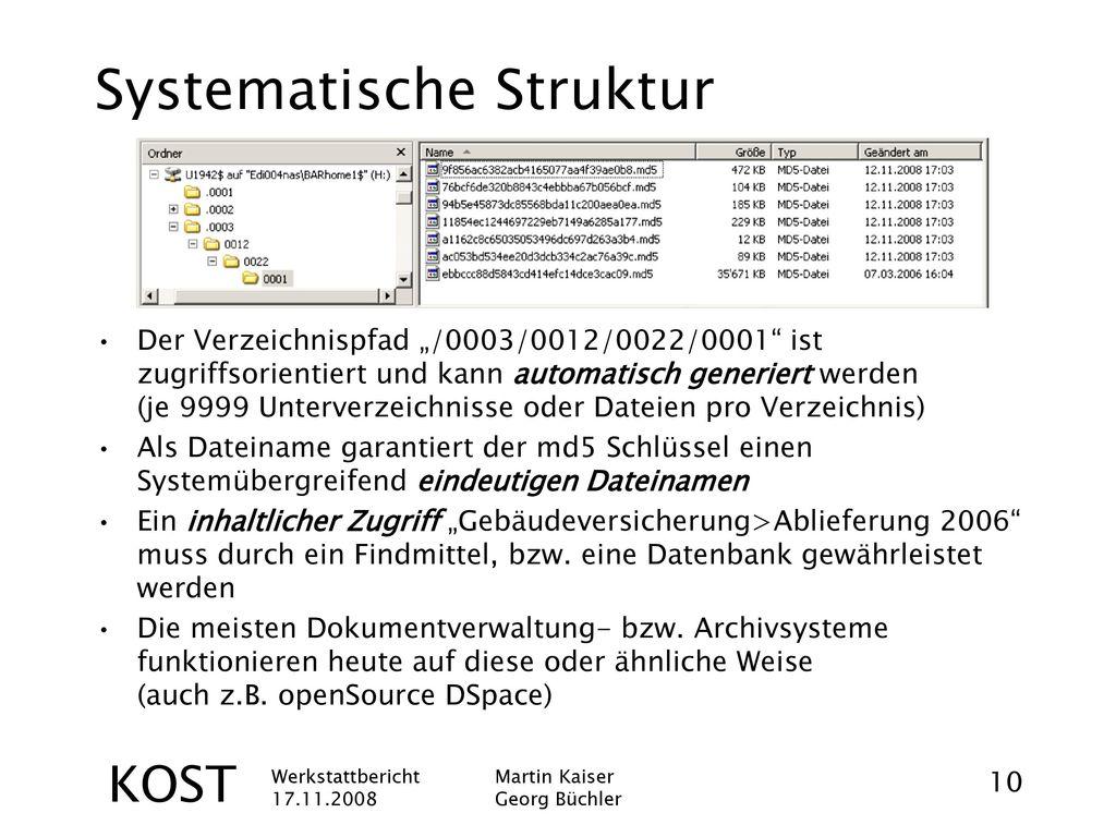 Systematische Struktur