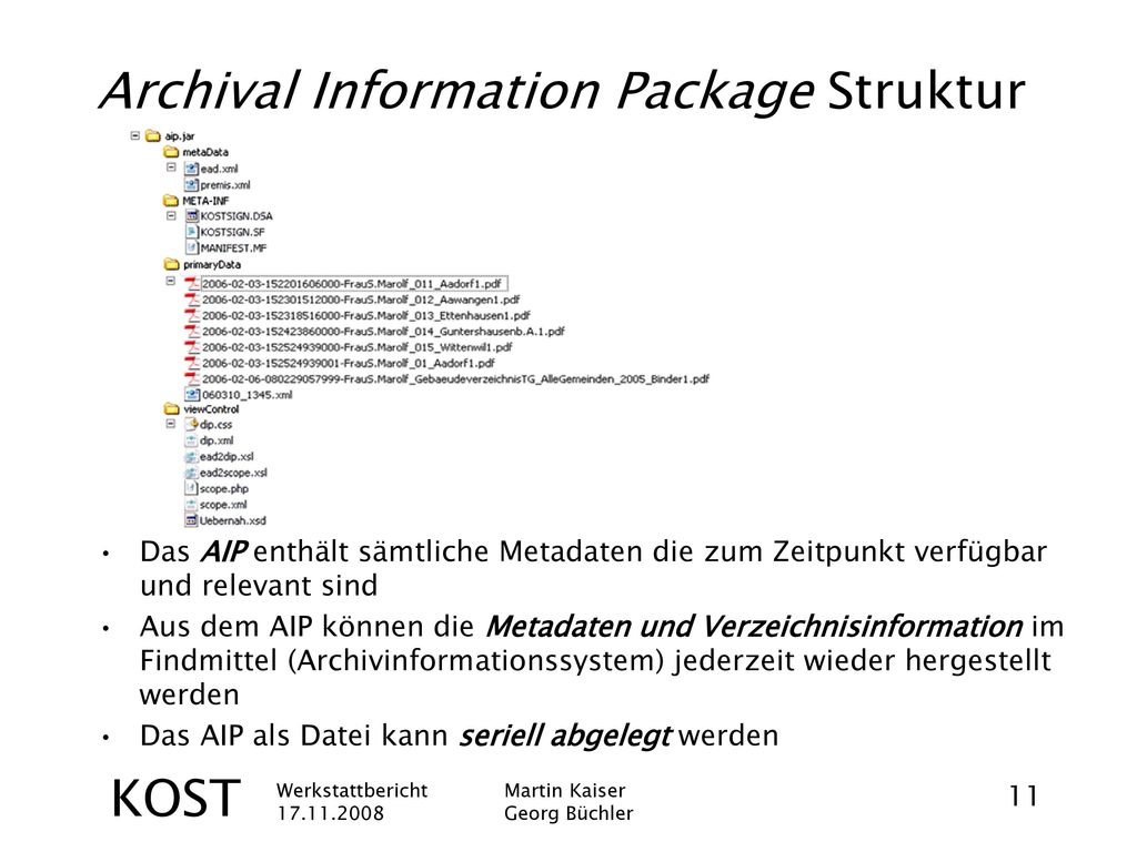 Archival Information Package Struktur