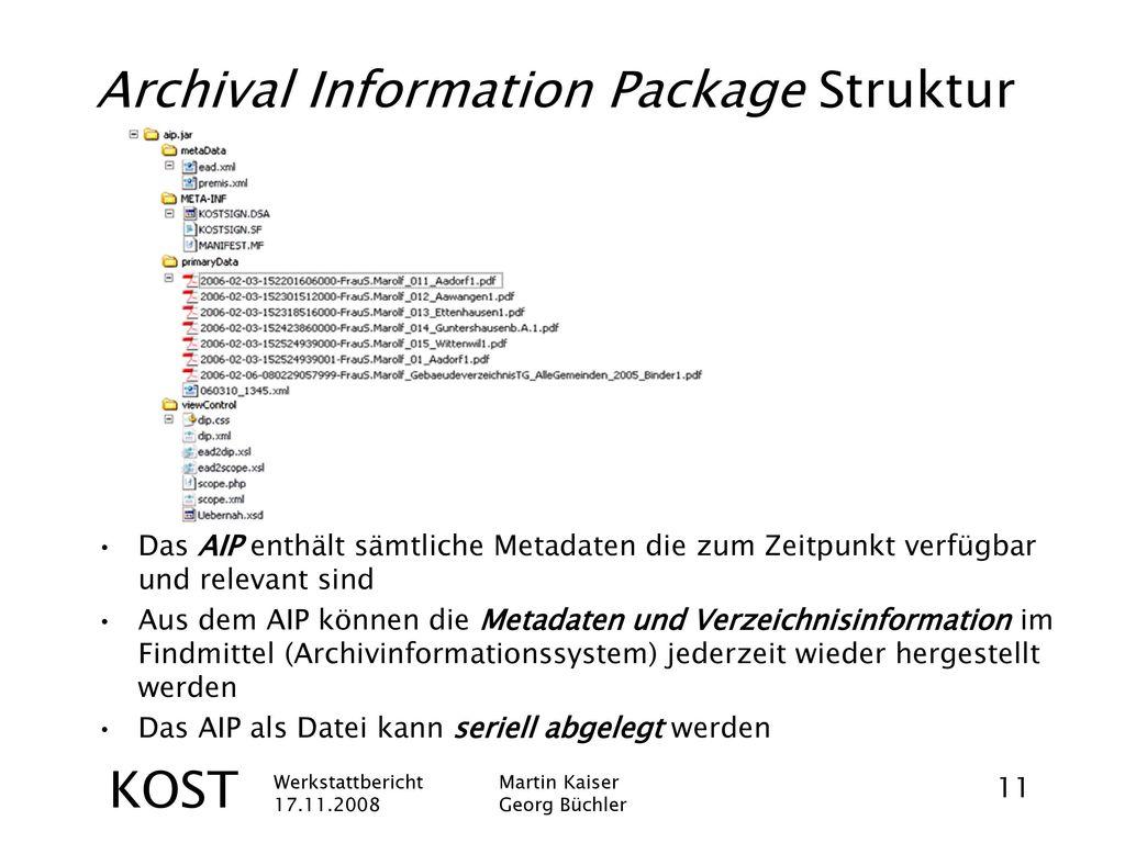 Archival Information Package Struktur