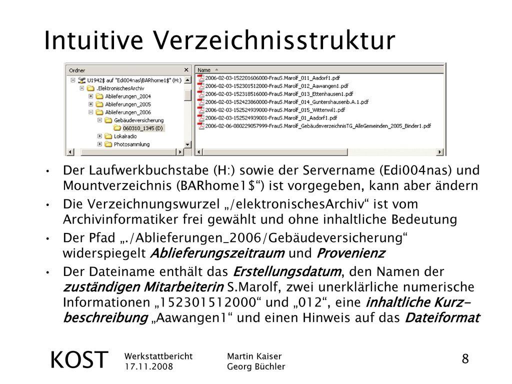 Intuitive Verzeichnisstruktur