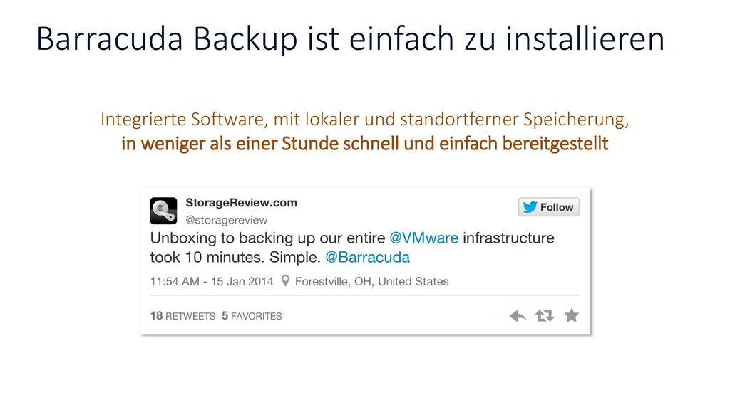 Barracuda Backup ist einfach zu installieren