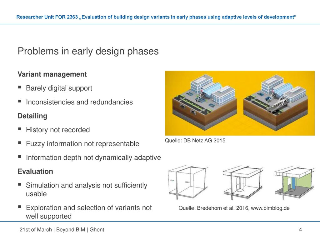 Problems in early design phases