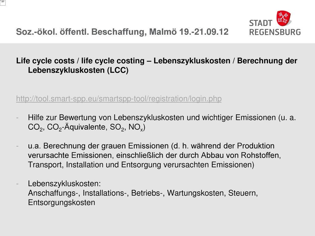 Soz.-ökol. öffentl. Beschaffung, Malmö 19.-21.09.12