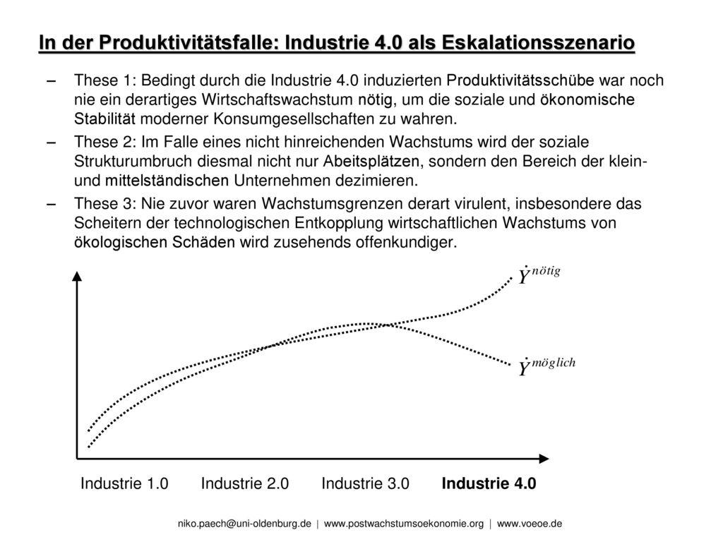 In der Produktivitätsfalle: Industrie 4.0 als Eskalationsszenario