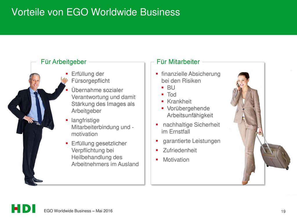 Vorteile von EGO Worldwide Business