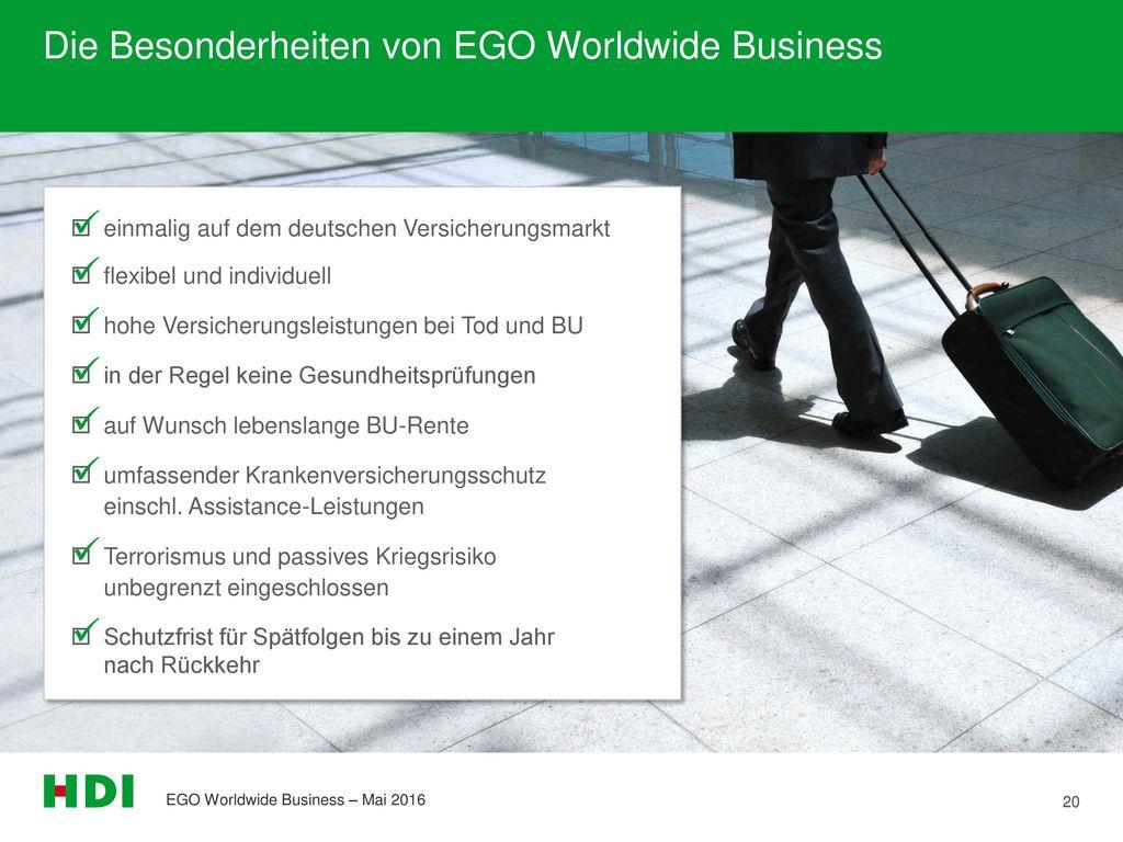 Die Besonderheiten von EGO Worldwide Business