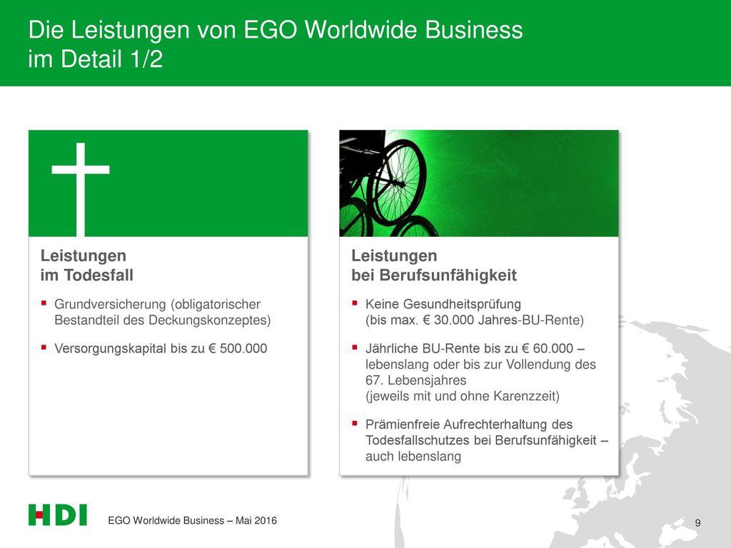 Die Leistungen von EGO Worldwide Business im Detail 1/2