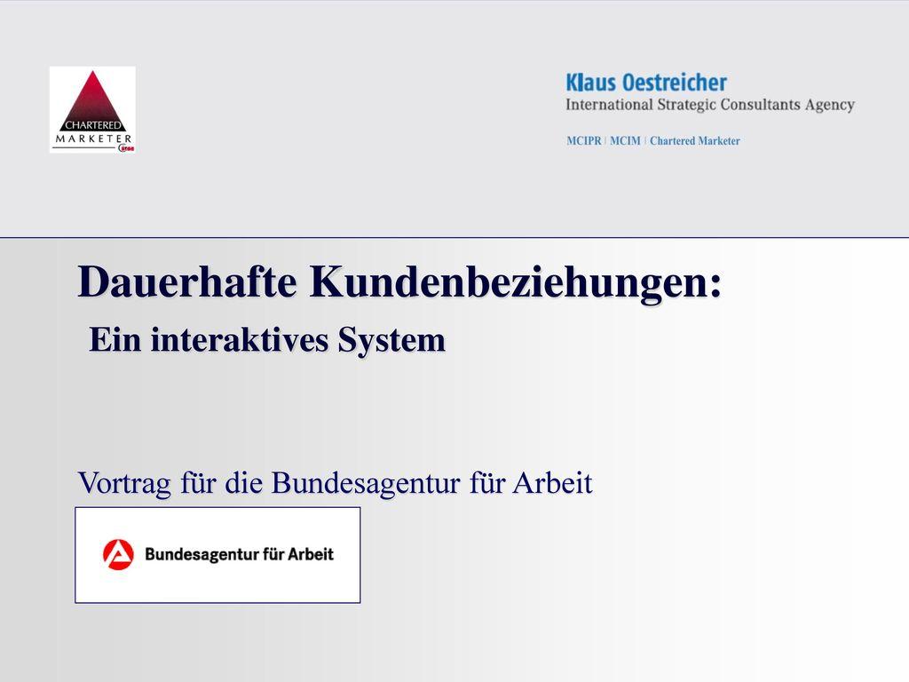 Dauerhafte Kundenbeziehungen: Ein interaktives System