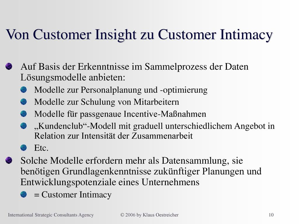 Von Customer Insight zu Customer Intimacy