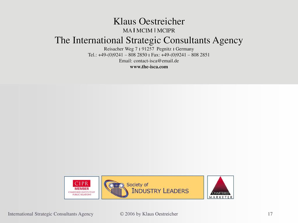 The International Strategic Consultants Agency