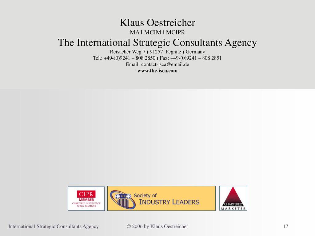 The International Strategic Consultants Agency