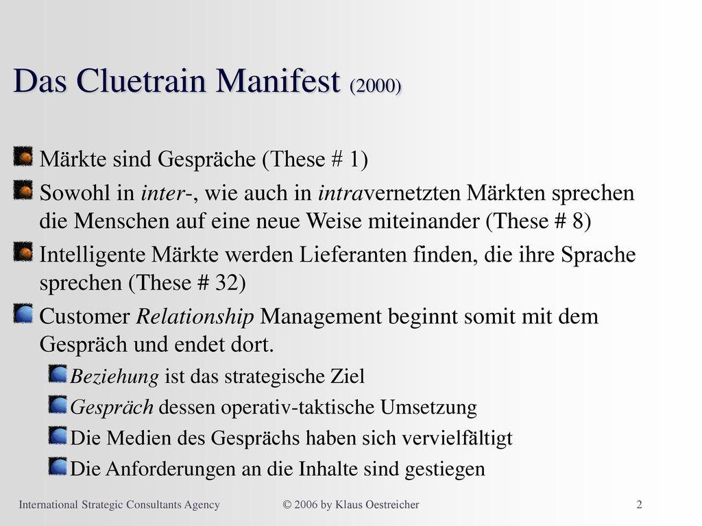 Das Cluetrain Manifest (2000)