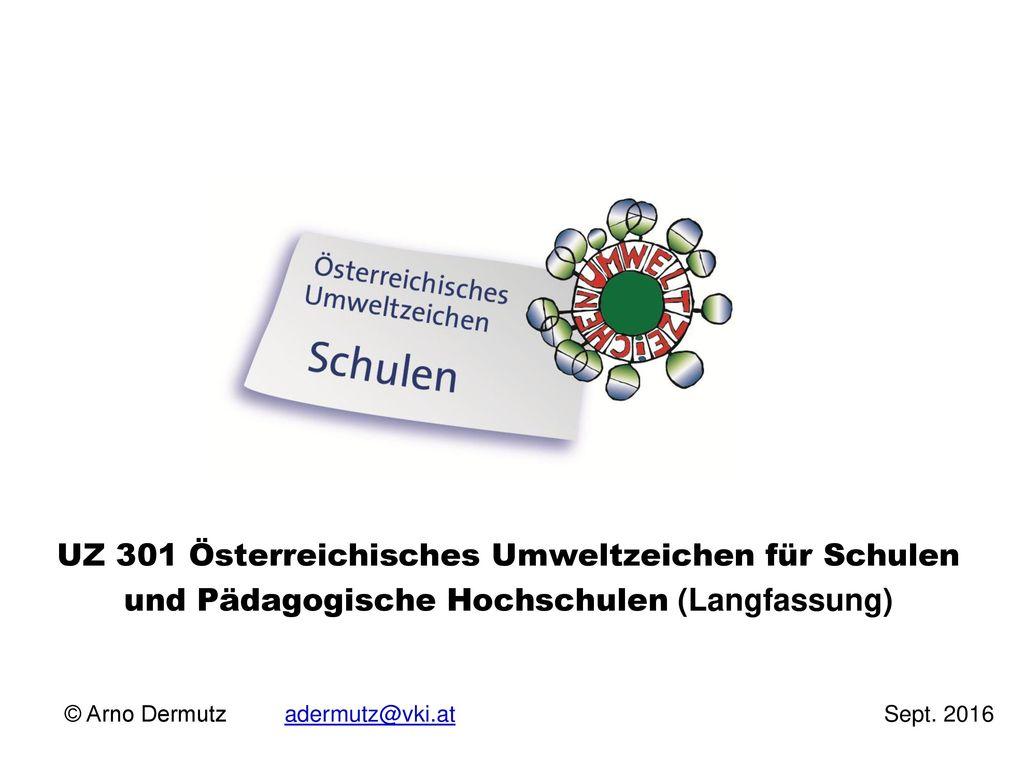 UZ 301 Österreichisches Umweltzeichen für Schulen und Pädagogische Hochschulen (Langfassung)