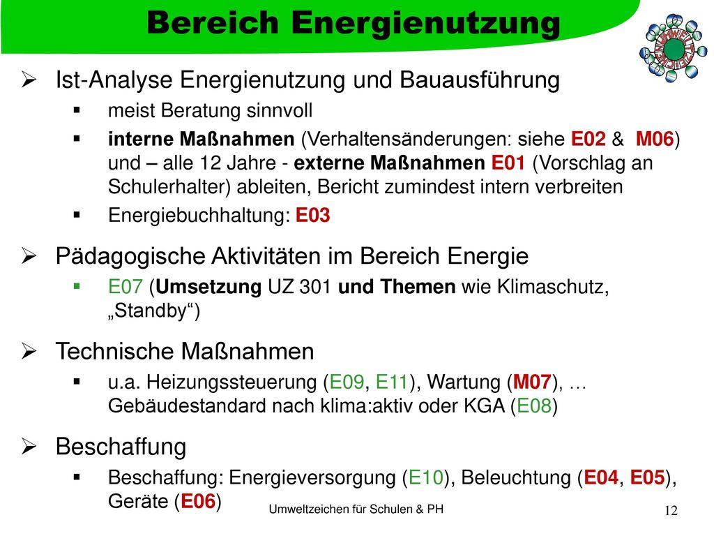 Bereich Energienutzung
