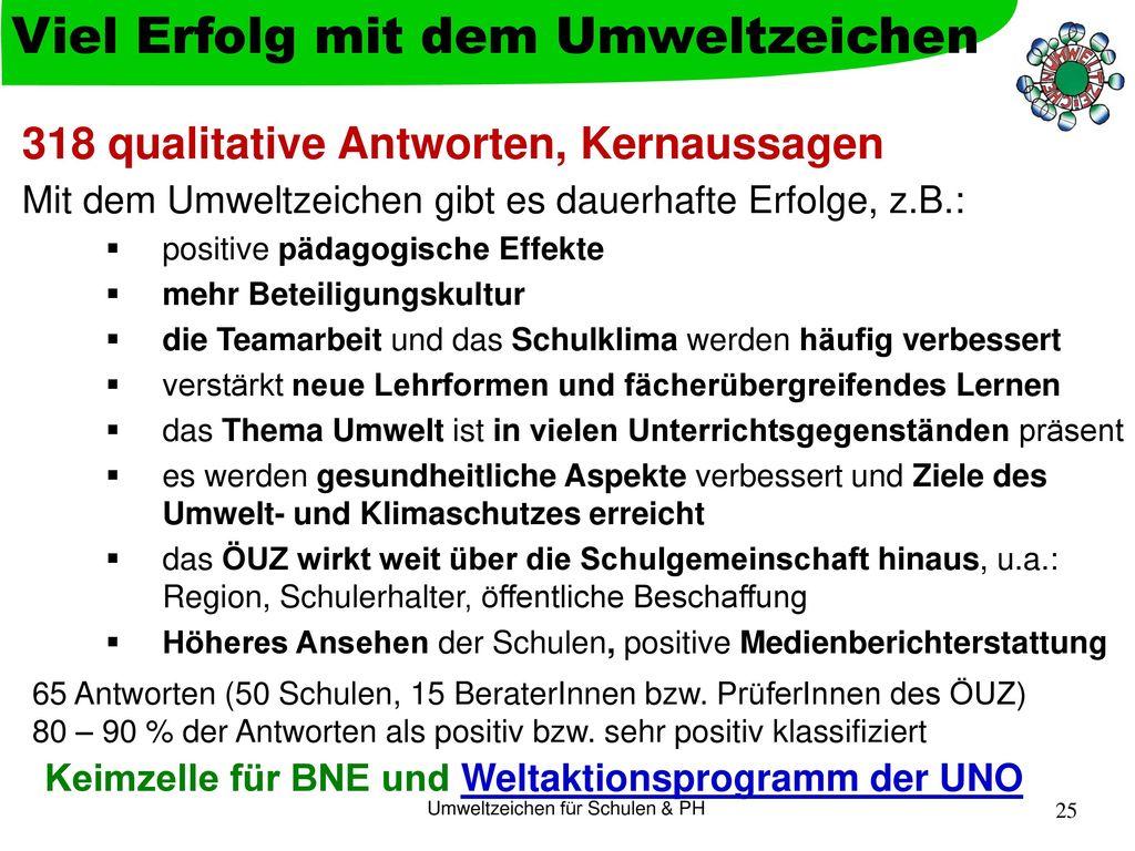 Keimzelle für BNE und Weltaktionsprogramm der UNO