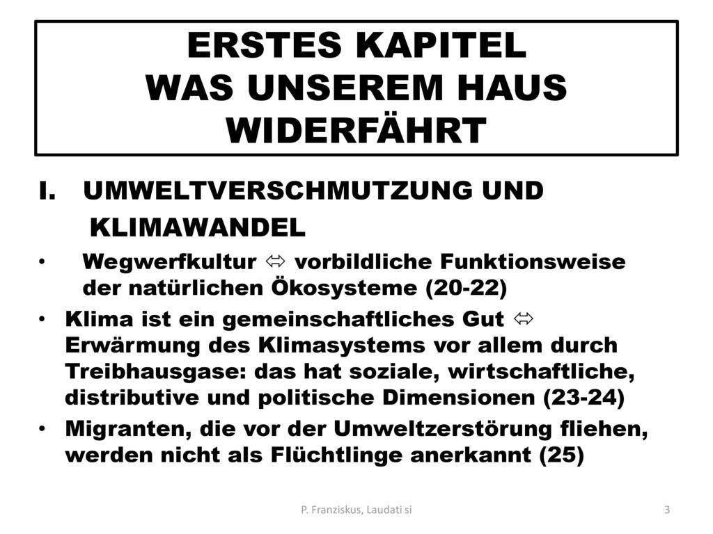 ERSTES KAPITEL WAS UNSEREM HAUS WIDERFÄHRT