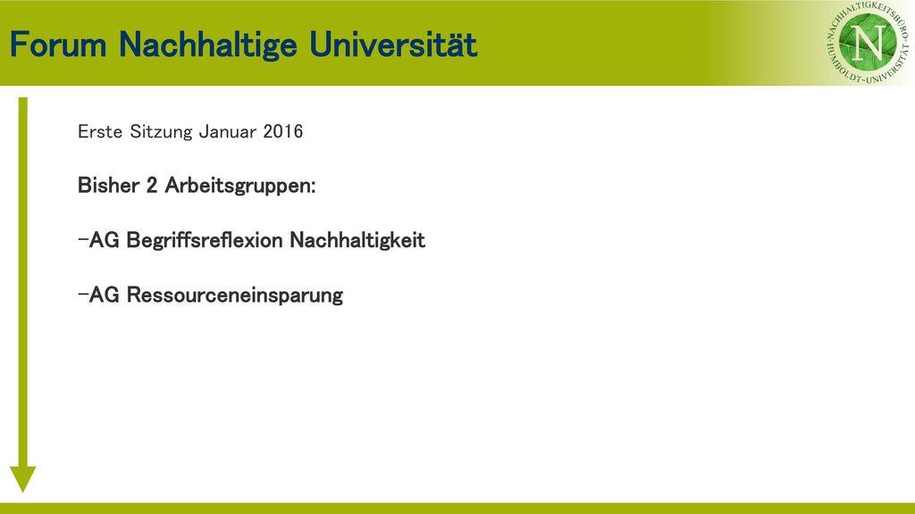 Forum Nachhaltige Universität