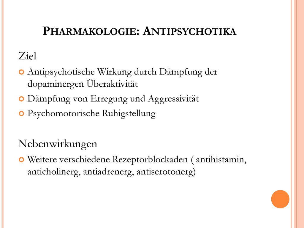 Pharmakologie: Antipsychotika
