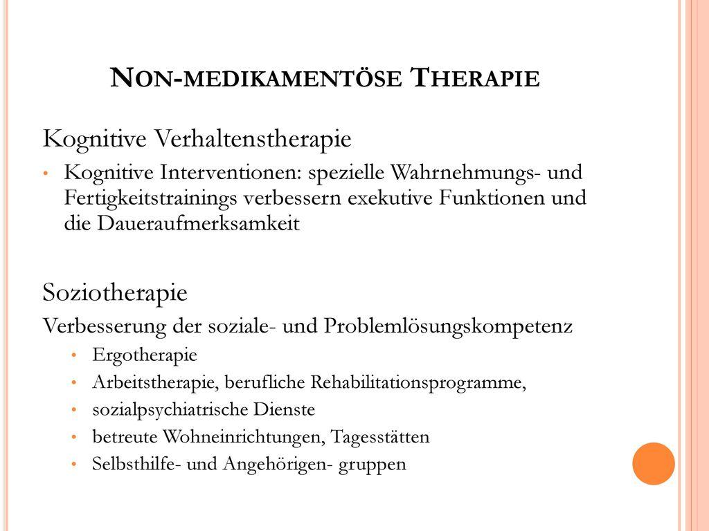 Non-medikamentöse Therapie
