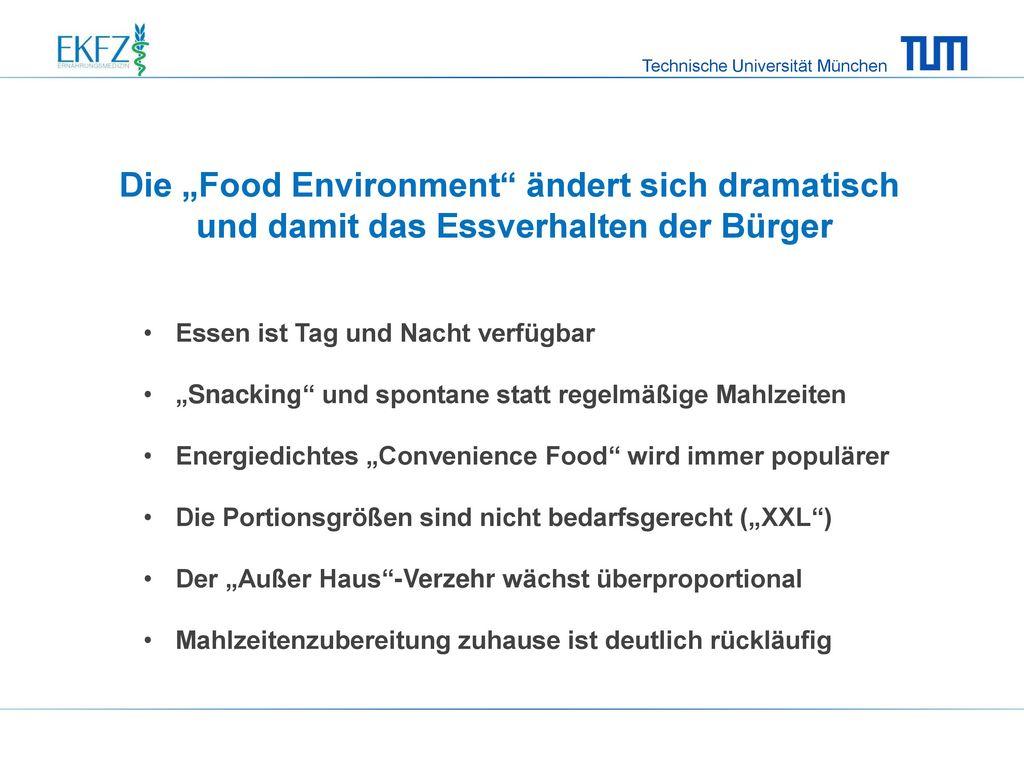 """Die """"Food Environment ändert sich dramatisch"""