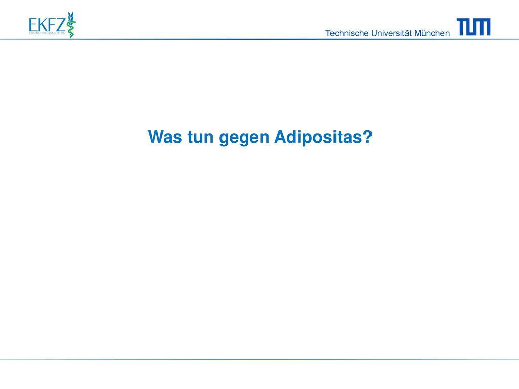 Was tun gegen Adipositas