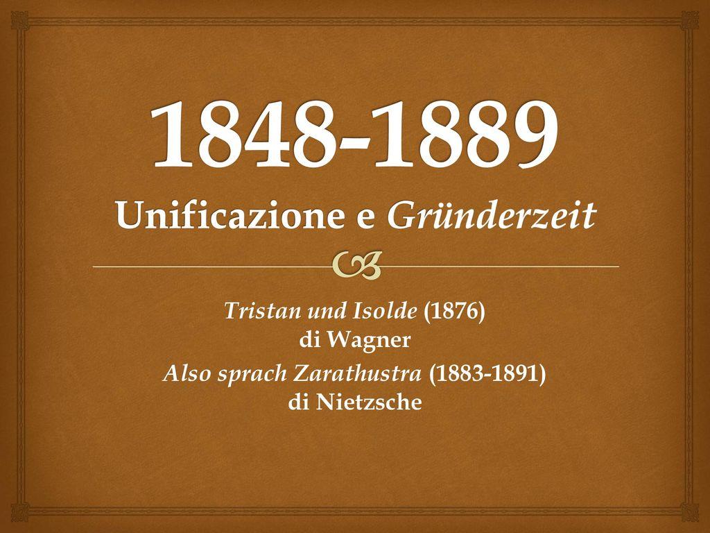 1848-1889 Unificazione e Gründerzeit