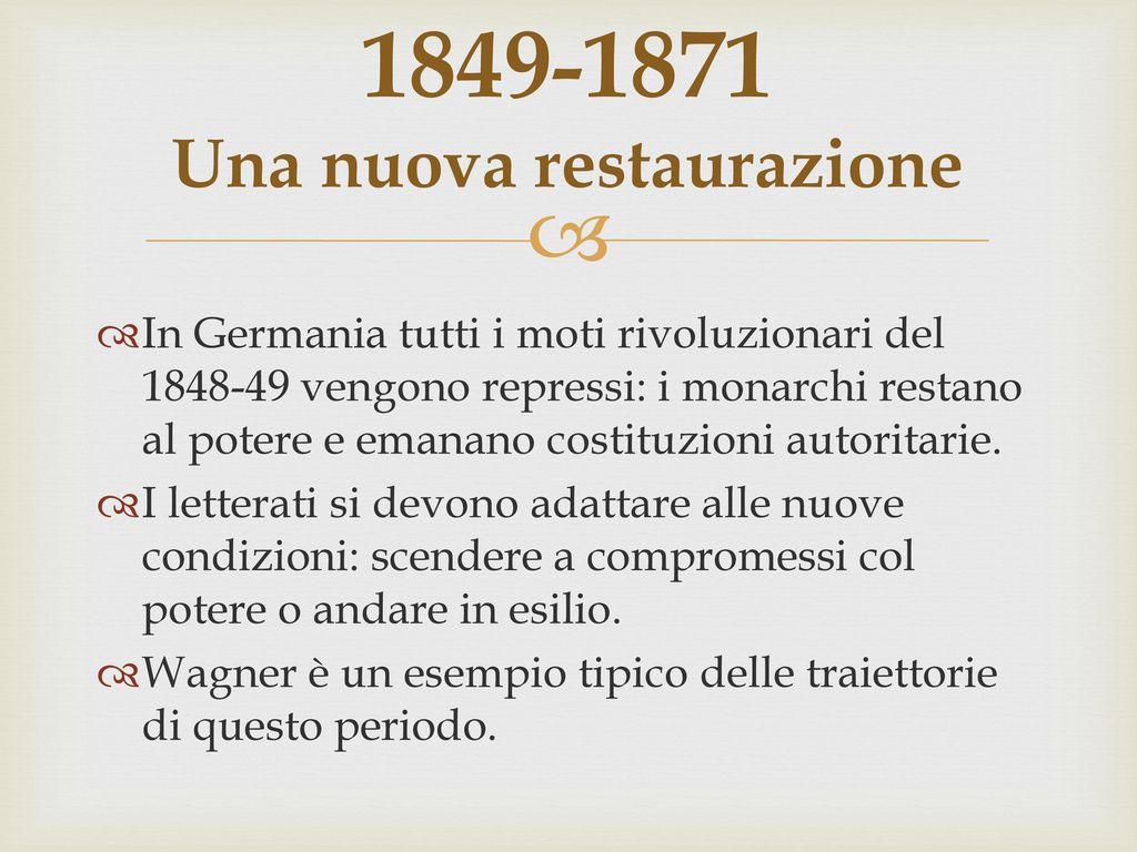 1849-1871 Una nuova restaurazione