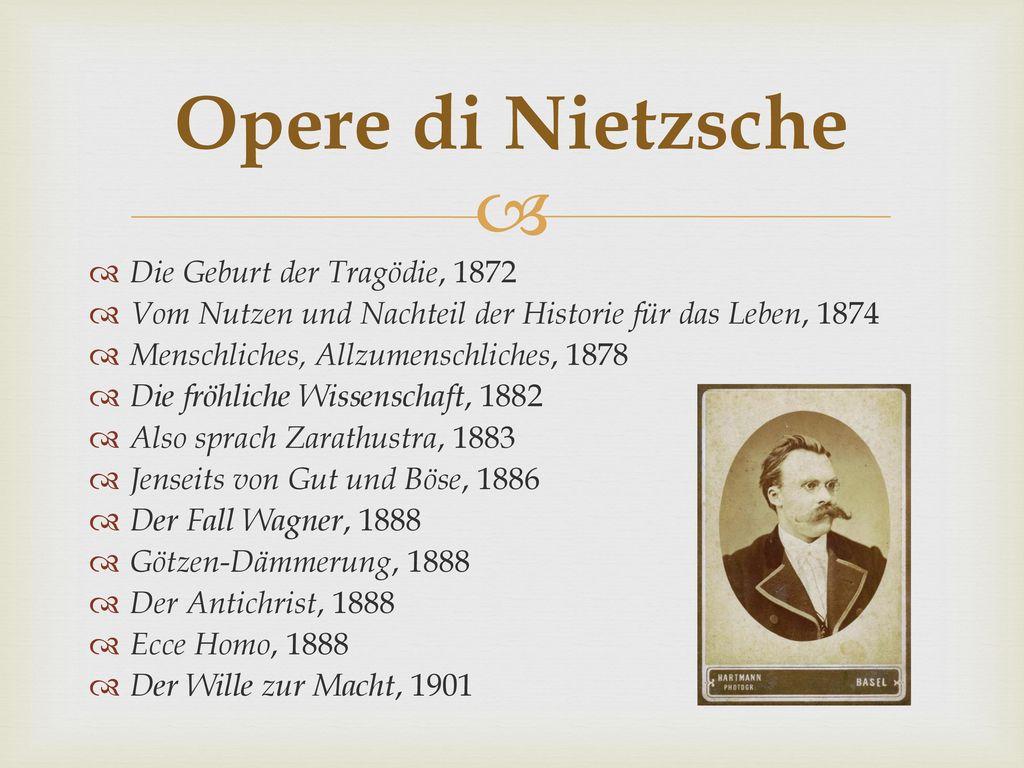 Opere di Nietzsche Die Geburt der Tragödie, 1872