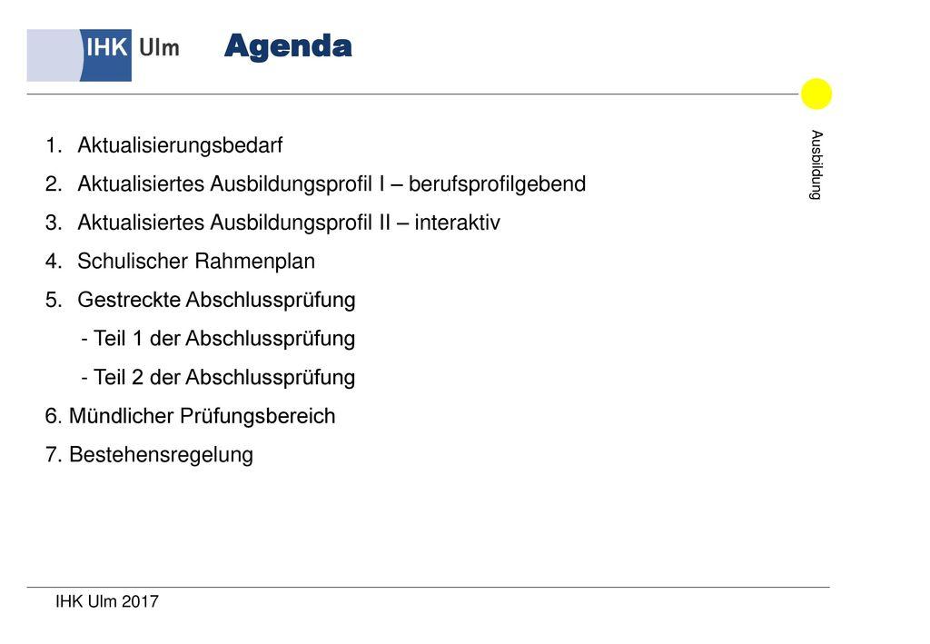 Agenda Aktualisierungsbedarf