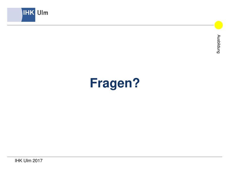 Fragen IHK Ulm 2017