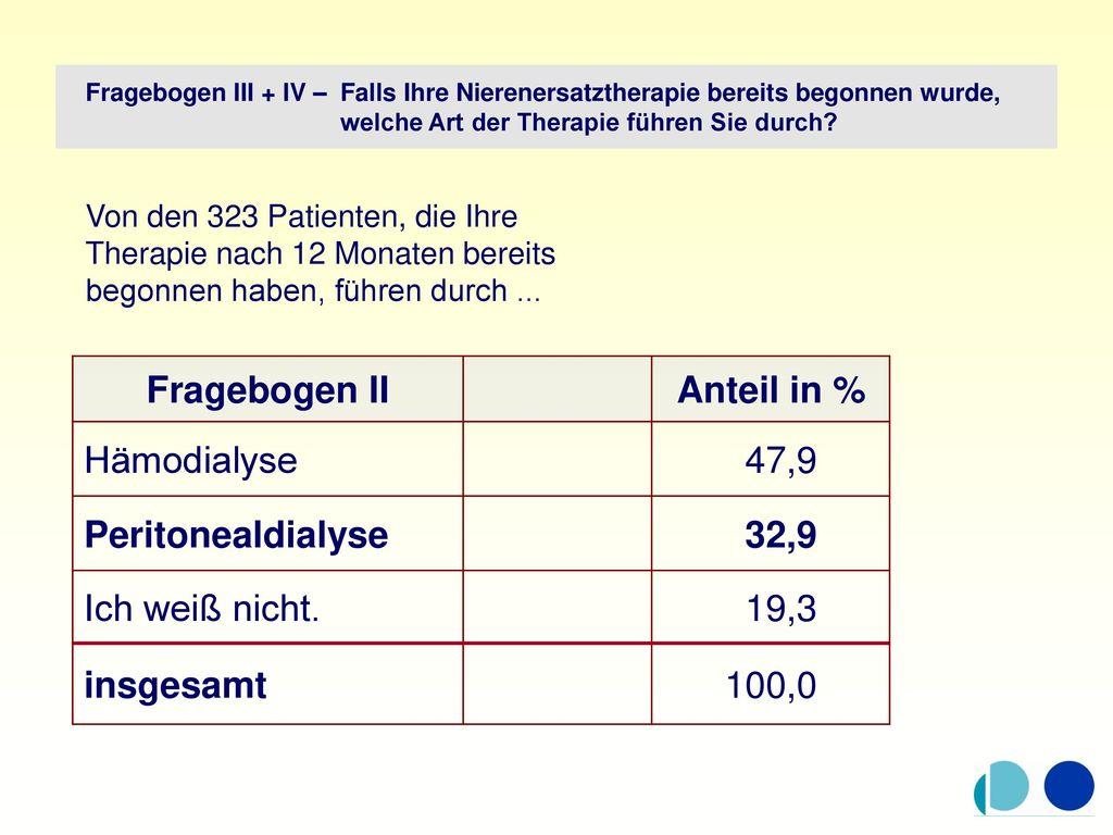 Fragebogen II Anteil in % 32,9